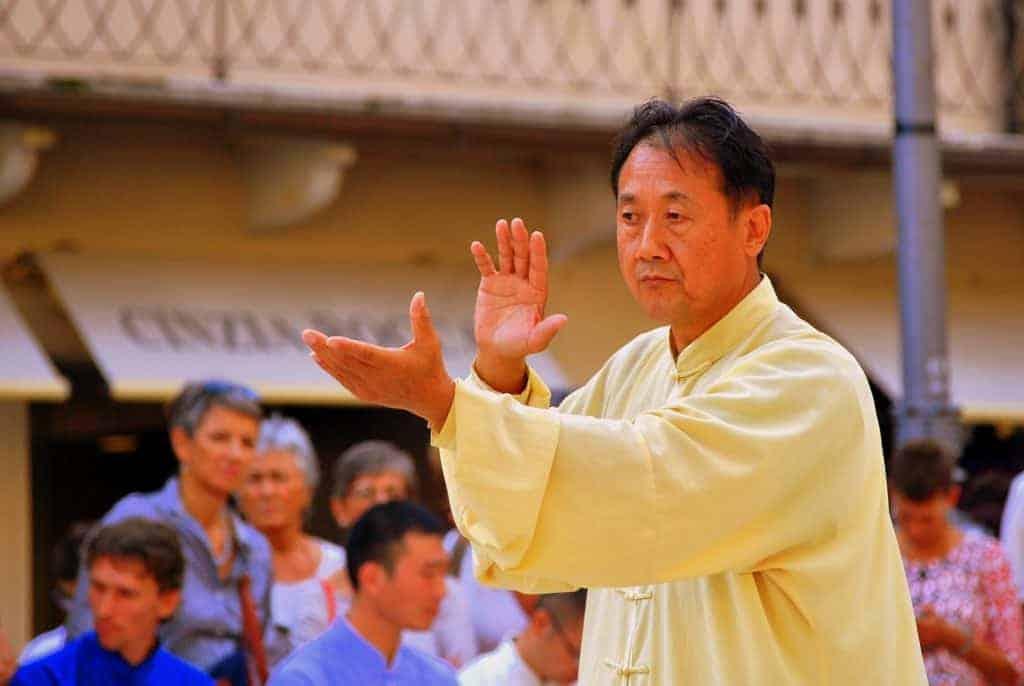 Taiji Master bei einer Vorführung