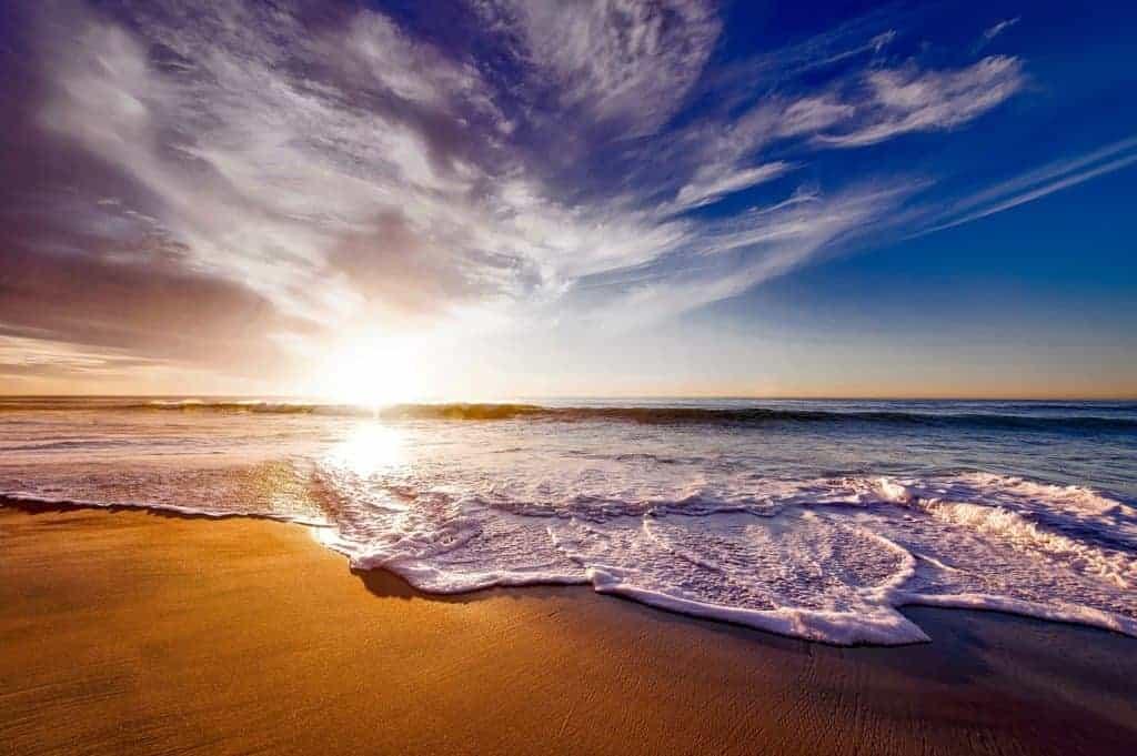 Strand mit Sonneruntergang