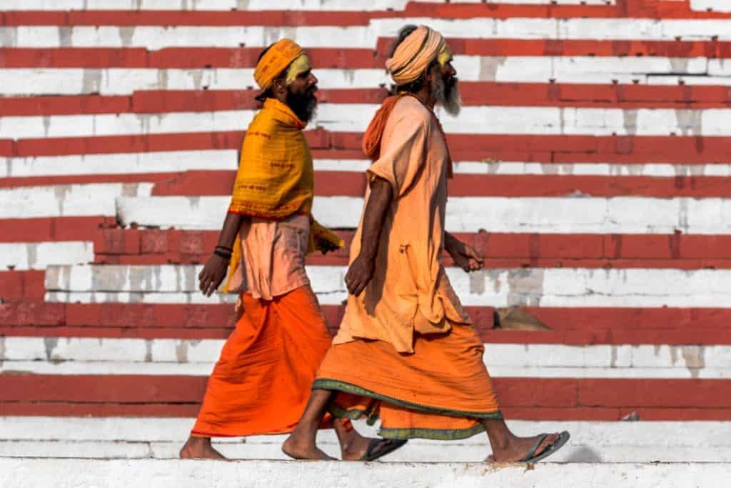 Zwei Inder auf der Strasse