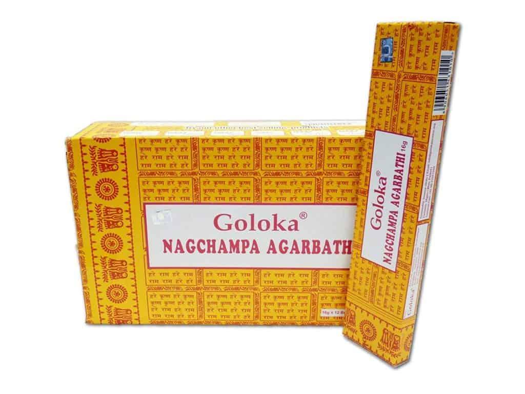 Räucherstäbchen zum Meditieren Goloka Nag Champa