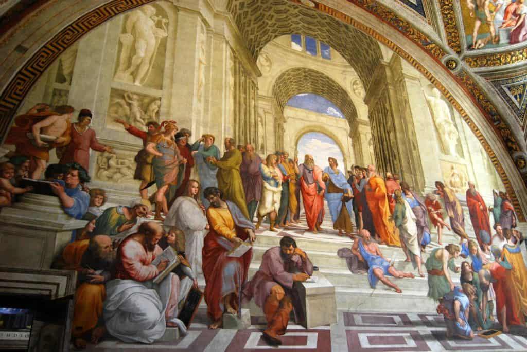 Bild von Philosophen im Vatikan